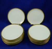 Antique RS GERMANY PRUSSIA Bread & Butter PLATE Gold Trim BLUE MARK China 14 pcs