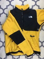 The North Face Fleece Denali Fleece Jacket Yellow Black Mens Size S Small