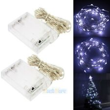 2x 16.5ft 50LEDs Battery Powered Copper Wire String Fairy Light X'mas Tree Light