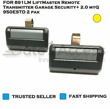 FOR 891LM LiftMaster Remote Transmitter Garage Security+ 2.0 myQ 950ESTD 2 pak