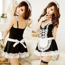 New Lingerie Halloween Costume French Maid Cosplay Servant Fancy Dress Uniform