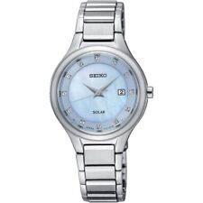 Seiko Coutura Ladies Blue Diamond Solar Watch SUT351P9-NEW