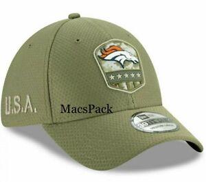 Denver Broncos Cap New NFL Era 39THIRTY Hat Large/XL Salute To Service
