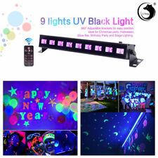 9 LED UV BAR Bühnenbeleuchtung Schwarzlicht Wall Wash Lichteffekt DMX Disco DJ
