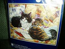BUCILLA NEEDLEPOINT KIT  ALL CURLED UP New n packge Out of production Nice gift!