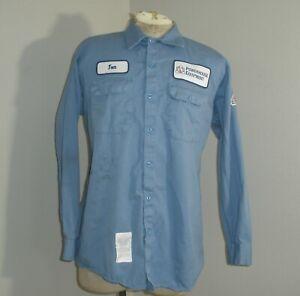 Mens BULWARK FR Blue Fire Flame Resistant Long Sleeve work Shirt XL