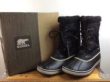 SOREL MENS UK 11 EU 45 WINTER CARNIVAL BLACK SNOW BOOTS RRP £115 C