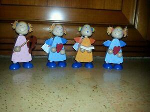 4 HABA Engel aus Holz Herz Geige Buch Weihnachten Neu