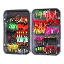 100pcs Colorful Fly Fishing Flies Assortment Dry Trout Fly Fishing Lure Hook Kit