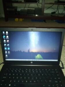 HP stream 14 laptop, with 1TB external harddrive