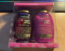 NEW BNIB - OGX Limited Edition Set Pink Sugar Plum Shampoo & Conditioner 2x385ml