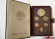 USA 1984 Olympic Prestige Ensemble De , 6 Gem Certifié Coins U. S. Mint. Blanc