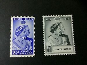 Virgin Islands: 1948 Royal Silver Wedding, Mint very lightly hinged