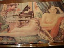 Vintage Chinese Advertisement Poster with Topless Model Rare