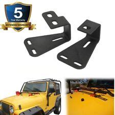 2pcs Hi-Lift Jack Hood Mount Bracket Fit 44-06 Jeep Wrangler CJ YJ TJ high lift