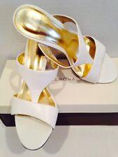 Merona Women White Heel Sandals 8m Used