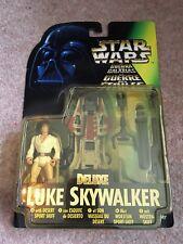 Star Wars Deluxe Luke Skywalker con desierto Sport bote figura 1996