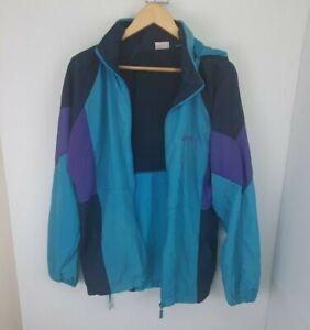 Brooks 90s Colour Block Windbreaker Track Jacket Sz M