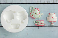Silicone Mould, Teapot, Tea cup, Cake, Food Grade, Ellam Sugarcraft M0151