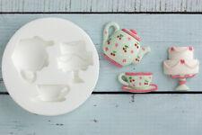 Silicone Mould, Teapot, Tea cup, Cake, Food Grade, Ellam Sugarcraft M0151