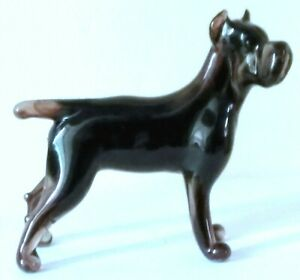 """HAND MADE BLOWN """"MURANO"""" GLASS COLLECTABLE  CANE CORSO  DOG  FIGURINE"""