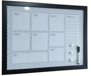 NEW GEOMETRIC WHITEBOARD WEEKLY PLANNER BOARD MEMO MESSAGE WHITE BOARD GIFT