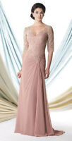 Mon Cheri Mother Of The Bride Groom Wedding Prom Dress Size 6 Dusty Rose 113906