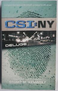 CSI: NY - DELUGE - STUART M. KAMINSKY - PAPERBACK BOOK