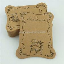10PC Paper Card Packaging For Rope Hair Band Ribbon Thread Bobbin Spool Handmade