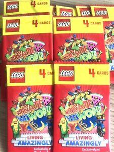 60 Sealed Cards / 15 Packs 🔴 Sainsbury's Lego Cards 2020 LIVING AMAZINGLY