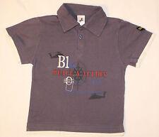 """T-Shirt Poloshirt in einem Grauton mit großem Motiv """"Peace & Action""""  Größe 98"""