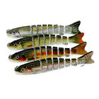8 Segment Minnow Swimbait Lures Crank baits Baits Hard Bait Fishing Lures tools