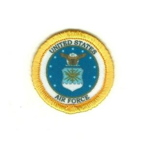 """1 1/2 """" Militaire Seal Of The US Air Force à Repasser Patch à Coudre"""