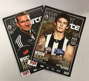COLLINGWOOD'S OFFICAL MAGAZINE - BLACK AND WHITE APRIL AND DECEMBER 2012