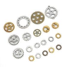 20PCS Retro Bronze Steampunk Cryberpunk Gears DIY Jewelry Graft Watch Parts Gogs