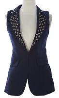 PRIORITIES Women's Navy Grommet Detail Vest #9054SPR $150 NEW