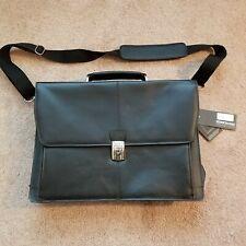 Kenneth Cole Reaction Leather Briefcase NWT Messenger Bag Laptop Port Time Job