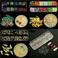 DIY Flower Mixed Dried Flowers 3D Nail Art Designs Manicure Tips Decor Sticker