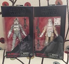 STAR WARS BLACK SERIES 6 Inch -Snowtrooper #35 & AT-AT Driver #31 - CASE FRESH