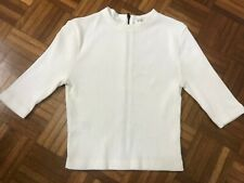 OPENING CEREMONY Ivory Ribbed Zipper Top Size 6-8
