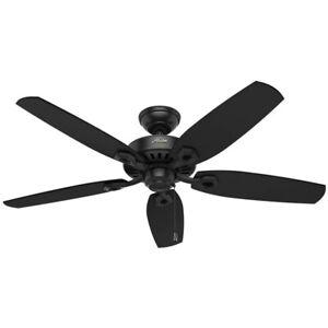 Hunter Fan Company 53243 Builder Elite 52 Inch Home Ceiling Fan, Matte Black