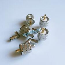 1Pcs UHF male PL259 plug straight crimp for RG-8X RG8X LMR240 cable connector G
