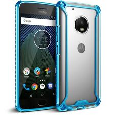 Affinity Reinforced Corner Protection Bumper  Case for Moto G5 Plus Blue