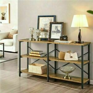 """45"""" Industrial 3 Tier Console Table Sofa Table Hallway Table for Living Roo"""