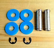 TATTOO MACHINE COIL CORES 2 X 32MM M4 THREAD 1018 STEEL + BLUE WASHERS + CLIPS