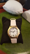 ladies anaii pink fashion watch easy to see face,in a gold finish,white dial.#b1