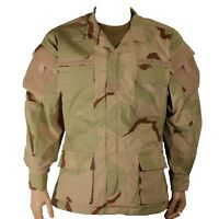 New Bulle Desert Tricolour Tactical Combat BDU Shirt, US Quarpel NYCO Ripstop