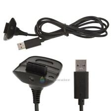 1x USB Charging Cable Replacement Charger For Xbox 360 Wireless Controller Black