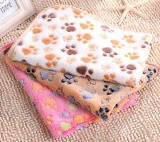Pet Dog Puppy Warm Mat Blanket Cat Bed Kitten Fleece Paw Print Soft Cushion Mats