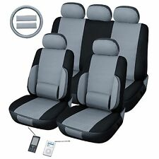 Back Support Lumbar Grey Car Seat Cover